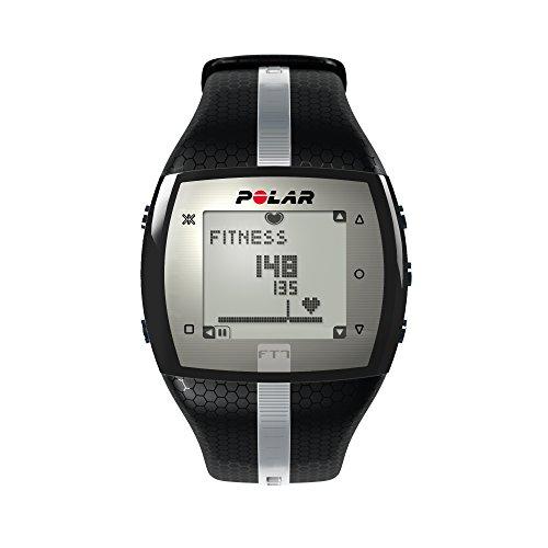 Polar Herzfrequenz-Messgerät Fitness Uhr, Schwarz/Silber, 90054890