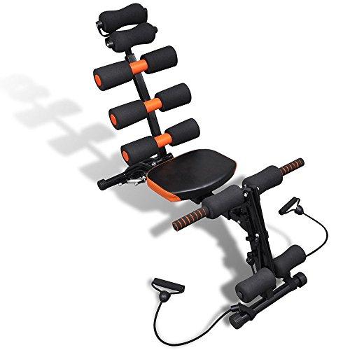 [ Multifunktions Heimtrainer ] 6 in 1 Fitnessgerät Heimtrainer Krafttraining Bauchtrainer Rückentrainer Muskelmaschine Bewegungsgerät -iisport®