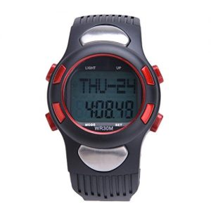 Aulei Fitness Sport Uhr 3D Impuls Puls Monitor mit Pedometer Kalorien Wider