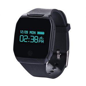 YAMAY® Fitness Tracker Wasserdicht Sport Bluetooth Armband Uhr Aktivitätstracker für Schwimmen/Radfahren mit Schrittzähler,Kalorienzähler,Schlaf-Tracker,Musik Steuerung,Fernbedienung,kompatibel mit Android iOS Smartphones (Schwarz)