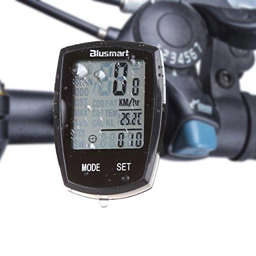 Fahrradcomputer , Blusmart Wireless-Zyklus-Computer-wasserdichte automatische Wake-up Große LCD-Hintergrundbeleuchtung Motion Sensor Outdoor Radfahren Echtzeit Speed Track