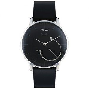 Withings Activité Steel – Smartwatch mit Aktivitäts- und Schlaftracker – Mineraglas & Edelstahl – Black
