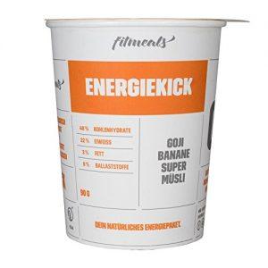 "Protein-Müsli Goji-Banane ""Energiekick"", Energy Power, 1er Pack (1 x 90 g), vegan & ohne Zucker, fitmeals"