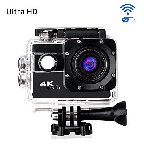 Ultra HD Action Kamera,CAMTOA Wasserdicht Sport-Actionkamera WIFI 20MP 2,0 Zoll Helmkamera,170° Weitwinkellinse HD 1080P WiFi HDMI camcorder mit 2 Batterien und Zubehör Kits,für Tauchen Helm Fahrrad