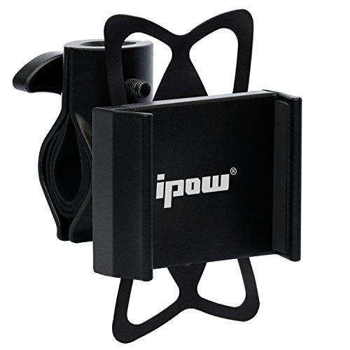 Ipow® Universal Fahrrad Handyhalterung mit Metall Sockel Handy Halterung Halter, Stabile Fahrradhalterung für Smartphone wie iPhone 7 / 6 Plus / 6 / 5s / 5 / 4 & Samsung Galaxy S7 / S6 Edge / S6 / S5 / S4 / S4 Mini / Note 3 / Note 4 / Note Edge usw.