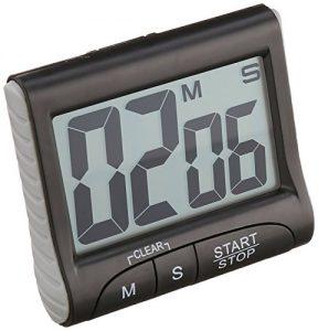 TFA dostmann 0 0 Elektronischer Timer mit Stoppuhr 38.2021.01 Schwarz, 0, 0
