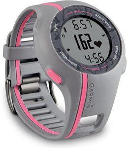 Garmin GPS Laufuhr Forerunner 110 W – GPS Trainingscomputer inkl. Brustgurt