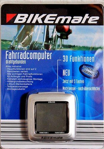 Fahrradcomputer - 30 Funktionen: Kalorienverbrauchsanzeige, Stoppuhr, Temperaturanzeige ... werkzeuglose Montage Fahrrad Computer Rad