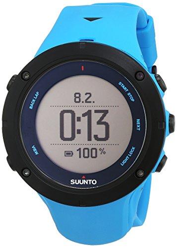 Suunto Unisex Ambit3 Multisport-/Outdoor GPS-Uhr, 30 Std. Akkulaufzeit, Herzfrequenzmesser + Brustgurt in blau (Gr. M), Wasserdicht bis 100 m