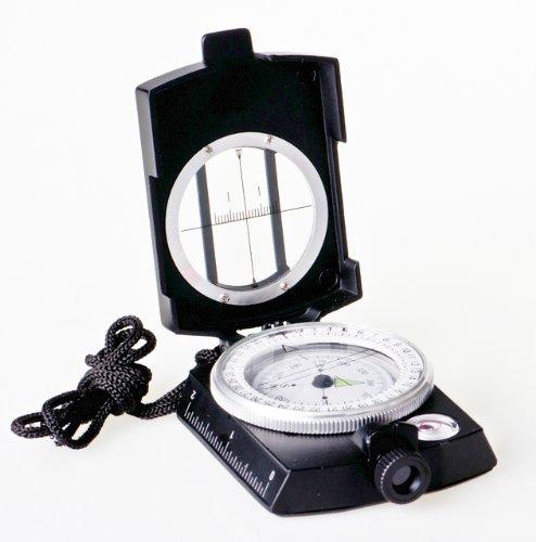 Huntington MG1 Militär Marschkompass / Peilkompass Premium Qualität - Professionell Flüssigkeitsgedämpft, Metallgehäuse mit Linsensystem, verschiedene Farben (Mattschwarz oder Militärgrün)