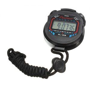 Digital Sportuhr – TOOGOO(R) Digital Sportuhr Stoppuhr LCD Multifunktion Mit Timer Cord Schwarz