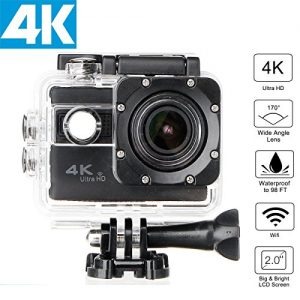 4K WiFi Sports Actionkamera,CAMTOA Funnktional 1080P 2.0 LCD Full HD 30m Waterproof Kamera Wifi 1.5 Inch 170 ° Mini Recorder Sports Action DV/CAR DVR/Cam für Fahrrad Motorrad Tauchen Schwimmen usw