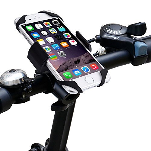 Fahrrad Handyhalterung,Acelive 360-Grad-Drehung Handyhalter Fahrrad Verstellbar Motorradhalter Halterung mit Metall Sockel für GPS iPhone 7 7 Plus 6s 6s Plus 6 6 Plus und smartphone