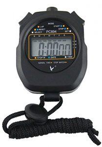 Leap Digital Professional Handheld LCD Chronograph Sport Stoppuhr, one-row 2Erinnerungen Bahnenzähler Running Timer.
