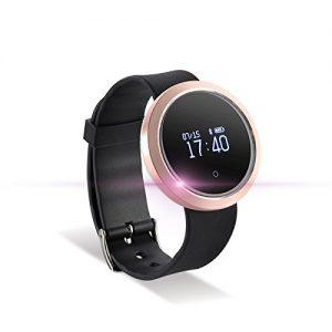Fitness Tracker Sport Armband Uhr Bluetooth Smart Watch Aktivitätstracker Wasserdicht Schrittzähler Pulsmesser Rosa für Anrdoid iPhone Samsung Sony Huawei LG HTC