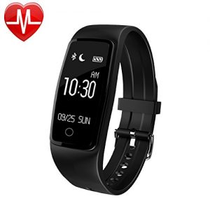 Willful Fitness Armband mit Pulsmesser Wasserdichte Fitness Tracker Puls Armband Aktivitätstracker Schrittzähler Uhr mit Schlafmonitor Kalorienzähler Vibrationsalarm Anruf SMS Whatsapp Beachten mit iPhone Android Handy kompatibel
