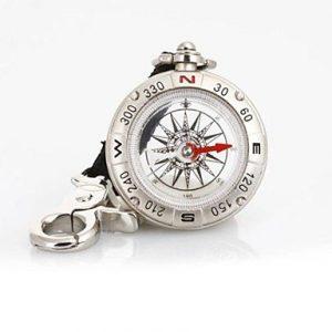 T49 Multifunktionsflüssigkeitsgefüllte Pirate Compass Schlaufe / Schlüsselanhänger – Silber