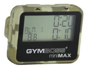 Gymboss miniMAX Intervalltimer und Stoppuhr CAMOUFLAGE / HELLBRAUN SOFTBESCHICHTUNG