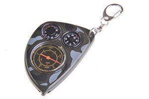Huntington Rangefinder Opisometer: Kompass, Distanzmesser / Entfernungsmesser / Kartenmesser, Thermometer, military-camouflage, LX-2m (DE)