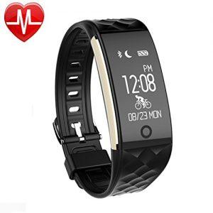 AsiaLONG Fitness Tracker mit Pulsmesser, Schrittzähler Uhr Fitness Armband Wasserdicht Aktivitätstracker mit Schlafmonitor, herzfrequenz, Kalorienzähler, SMS SNS Whatsapp Vibration für Android und IOS Handys
