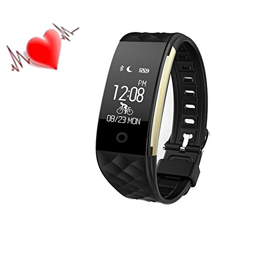 iRapid Sport Bluetooth Smart Armband IP67 wasserdicht mit OLED-Touch Screen Smart Watch und Fitness Tracker Heart Rate Monitor beobachten für IOS 7.0, Android 4.3 über System