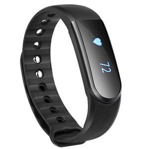 Fitness Tracker Armbanduhr, Toobur Pulsuhr, Drahtlose Aktivität und Schlaf-Tracker, USB-Ladekabel Touch Bildschirm Smart-Armband, Sportuhr mit Schrittzähler Kompatibel mit iPhone iOS und Android-Handy