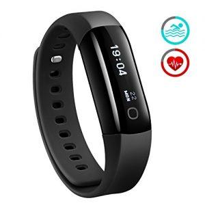 Fitness Tracker, Mpow IP68 Wasserdichte Smart Fitness Armbänder mit Pulsmesser, OLED Bildschirm Herzfrequenz Monitor Schwimmsportuhr Aktivitätstracker Podometer für Android iOS Smartphones.