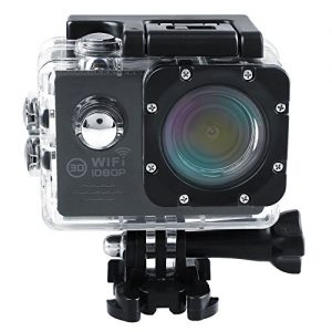 Cido Actionkamera Outdoor Wifi Sportkamera, Full-HD-DVR, 1080p-Video, 12MP Auto-Recorder Tauchen Fahrrad Action Kamera 2.0 Zoll LCD-170 ° Weitwinkel und maximal 30m-Wasserdicht