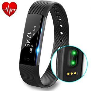 Fitness Armband, DeYoun Smart Fitness Tracker Aktivitätstracker mit Herzfrequenzmesser / Schrittzähler / Schlaf-Monitor / Kalorienzähler IP67 Wasserdichte Fitness Uhr für IOS and Andriod Smartphone