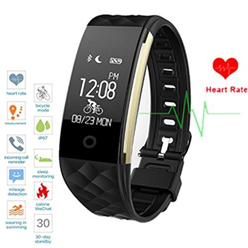2017 Neuestes Bluetooth FitnessTracker Sport Smart Armband Berühren Bildschirm Armband und Pedometer Armband mit Schrittzähler / Kalorienzähler / Schlaf-Monitor / Wecker