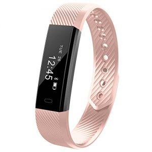 Fitness armband Smarter YG3 Activity Tracker Armband Schrittzähler Kabellose Bluetooth 4.0 Schritte Entfernung Sleep Kalorien ausgeschnittenem Touch Bildschirm Call Nachricht Reminder für Android und IOS (Rosa)