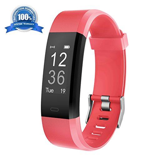 Fitness Armband HolyHigh YG3 Plus HR Pulsuhr Aktivitätstracker mit Herzfrequenz Monitor / wasserdichter /Schrittzähler / Anrufbenachrichtigungen / Ruhemodus/ Kamerabedienung / Modus für die Musikwiedergabe / Kalorienzähler / Pausenerinnerung für Android und iOS (Rot)