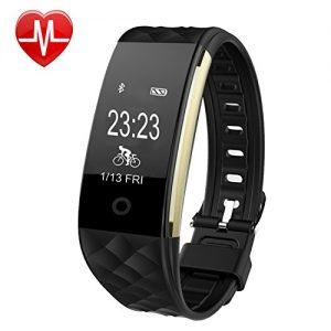 Willful SW328 Fitness Tracker mit Pulsmesser – Wasserdichte Fitness Armband Puls Armband Aktivitätstracker Schrittzähler Uhr mit Schlafmonitor Kalorienzähler Vibrationsalarm Anruf SMS Whatsapp Beachten mit iPhone Android Handy kompatibel