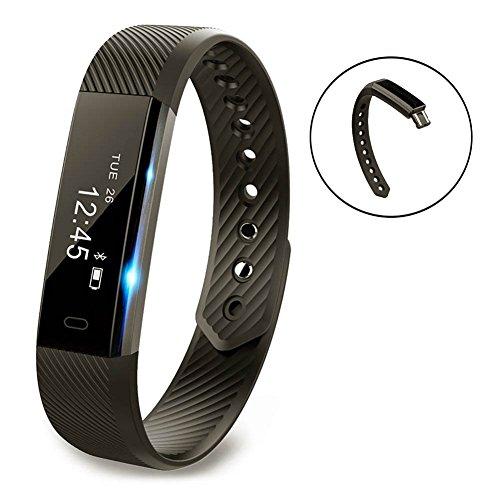 Smart Armband Point Touch Pushman YG3 Bluetooth Anruf Remind Remote Self-Timer Smart Band Kalorienzähler Wireless Pedometer Sport Schlaf Monitor Aktivität Tracker Für Android iOS Telefon, Einzelpackung(Schwarz)