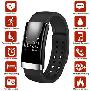 Dreamerd Fitness Tracker, Bluetooth Fitness Wristband / Smart Armband / Herzfrequenz Monitor / Schlaf Monitor / Kalorienzähler / Pedometer Sport Activity Tracker für iPhone iOS und Android Phone
