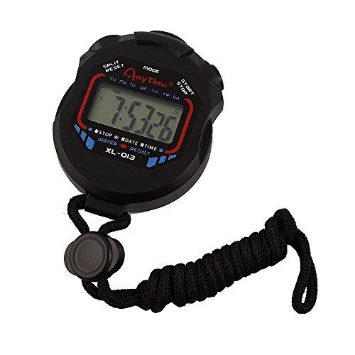 Jooks Sport Stoppuhr Professional Handheld Digital LCD Sport Stoppuhr Countdown Timer