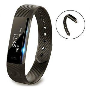Fitness Armband,Fitness Tracker,Pushmen YG3 Bluetooth Anruf Remind Remote Self-Timer Smart Band Kalorienzähler Wireless Pedometer Sport Schlaf Monitor Aktivität Tracker Für Android iOS Telefon, Einzelpackung.