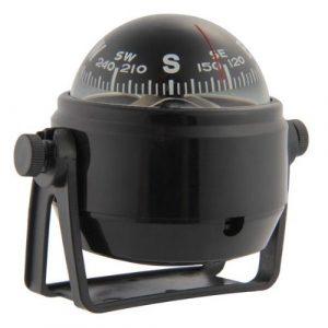 TOOGOO(R) Kompass Kugelkompass Compass Bootskompass Schwarz KFZ Navigation mit LED Licht