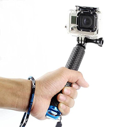 Besty Actionkamera Selfie Stick Stange Stab Einbeinstativ Schwimmender Handgriff Hand Grip Stativ für Wassersport Kompatibel mit Gopro Hero 5/4/3+/3/2/SESSION SJCAM Xiaoyi usw. mit 1/4 Internationaler Standardgewinde Blau