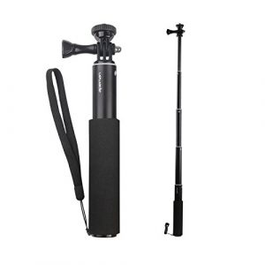APEMAN Einbeinstativ Verlängerungsstange Selfie Stick für apeman Actionkamera A66/A60/A70/A80 und Smartphones