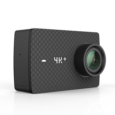 YI 4K plus Action Kamera 4K/60fps 12MP Action Cam mit 5,56 cm (2,2 Zoll) LCD Touchscreen 155° Weitwinkelobjektiv, Wifi und App für IOS/Android (DE Version) - Schwarz