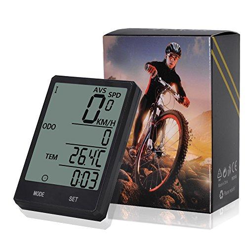 Wireless-Computer-Fahrrad, Fahrrad-Tachometer, Radfahren Kilometerzähler, Multifunktion mit extra großen LCD-Hintergrundbeleuchtung Display wasserdicht