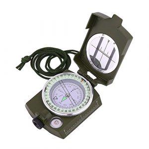 Kompasse, Sportneer Military Lensatic Militär Spiegelkompass Peilkompass mit Tragtasche, Wasserfest und Stoßfest, Armeegrün
