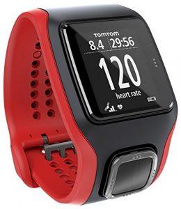 TomTom Multisport Cardio GPS-Uhr–Rot/Schwarz (zertifiziert aufgearbeitet)