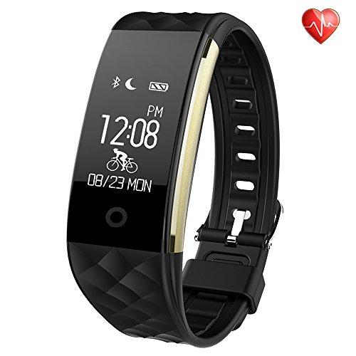 Fitness Armbänder mit Pulsmesser Semaco Fitness Tracker mit Herzfrequenzmesser, Schrittzähler, Schlaf-Monitor, Aktivitätstracker, Remote Shoot, Anrufen / SMS, finden Telefon für Android iOS Smartphone