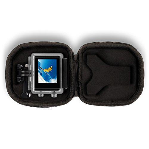 Optix Pro klein geformt EVA Hartschale Reise Hülle Etui mit doppeltem Reisverschluss für GoPro Hero5, Hero4, Hero3+, Hero3, Hero2 & Hero1 Action-Kameras