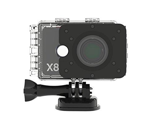 Actionpro 200004 X8 Sport- und Actionkamera (12 Megapixel, 2 Zoll, LCD) silber/schwarz
