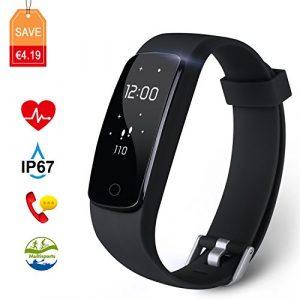 Fitness Tracker Aneken Aktivitätstracker mit Herzfrequenz Schrittzähler Schlaf-Monitor 14 Multi-Sport-Modi Kalorienzähler Anruf und Nachricht benachrichtigen für Android/iOS