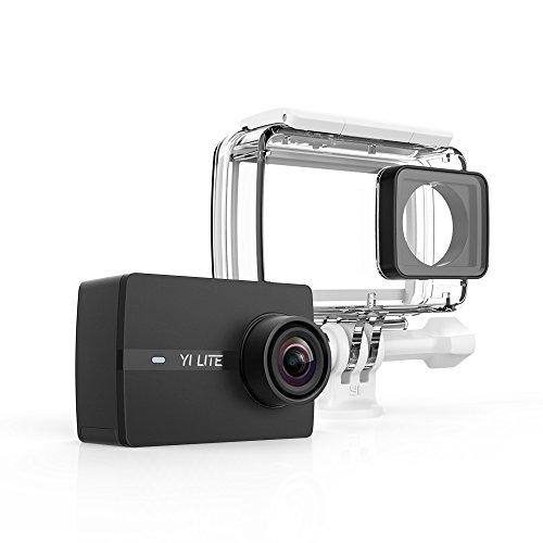 YI Lite Action-Cam 4K/20fps, 1080p/60FPS mit Ziel Ultra Weitwinkel WiFi & Bluetooth mit Gehäuse Wasserdicht–Schwarz