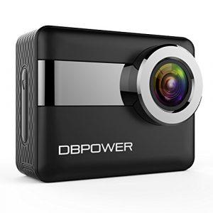 DBPOWER 4K WiFi Action Kamera, 2,31″ LCD Touchscreen 20 Megapixel 170 Grad Weitwinkel Wasserdichte Sport Kamera, 2 aufladbare Batterien enthalten, samt Accessoires (2017 Version)